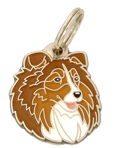 SHETLAND SHEEPDOG SABLE - pet ID tag, dog ID tags, pet tags, personalized pet tags MjavHov - engraved pet tags online